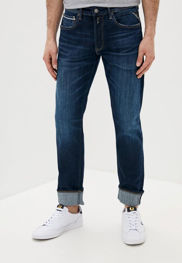 мужские прямые джинсы replay, синие
