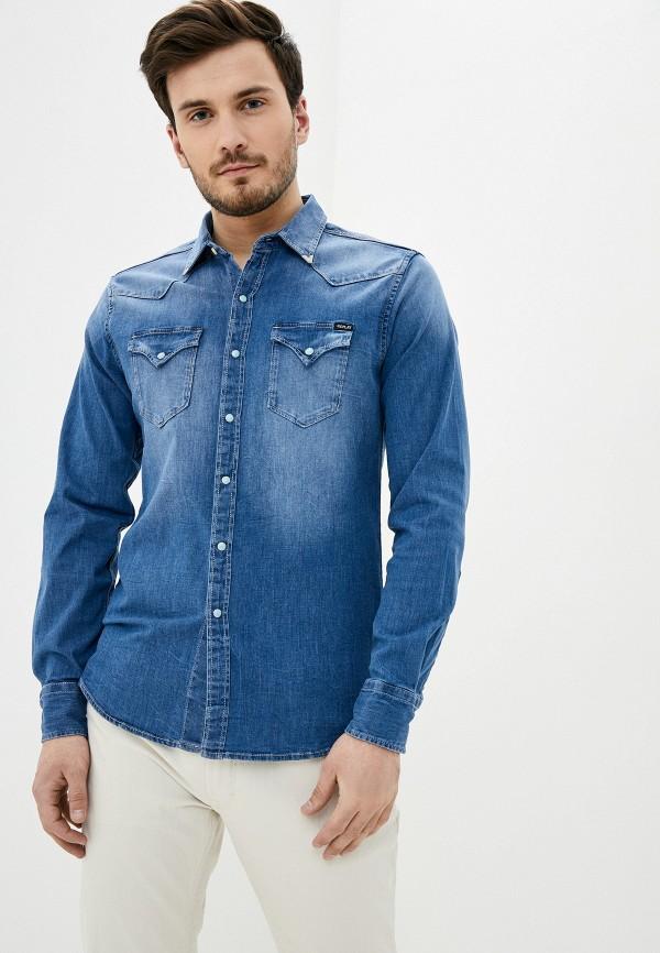 мужская джинсовые рубашка replay