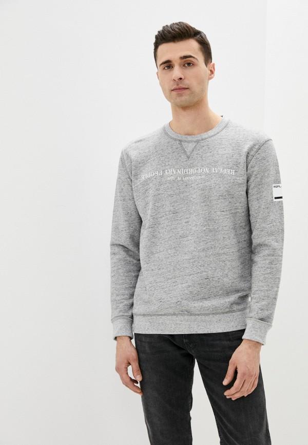 мужской свитшот replay, серый