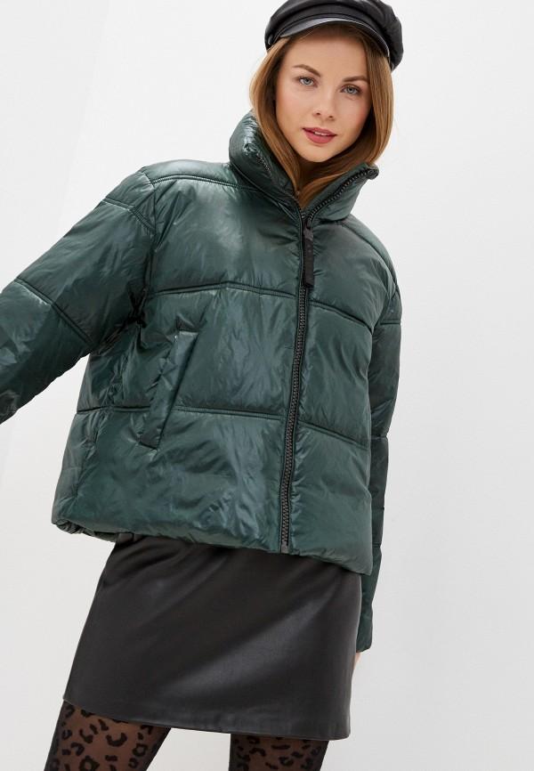 женская куртка replay, зеленая
