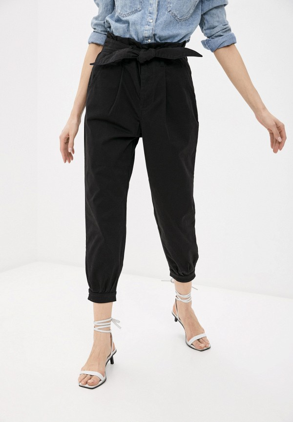 женские повседневные брюки replay, черные