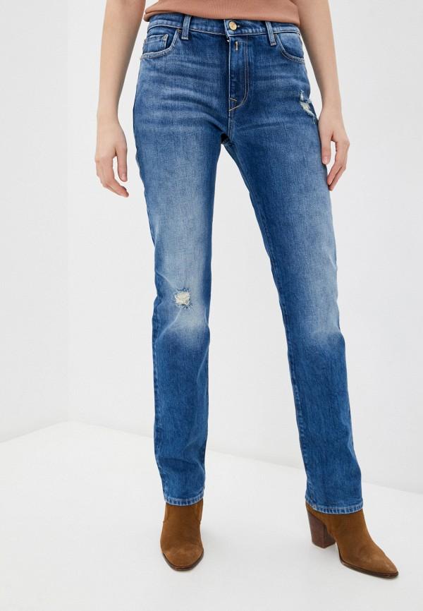 женские прямые джинсы replay, синие