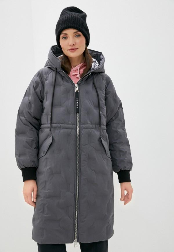 женская куртка replay, серая