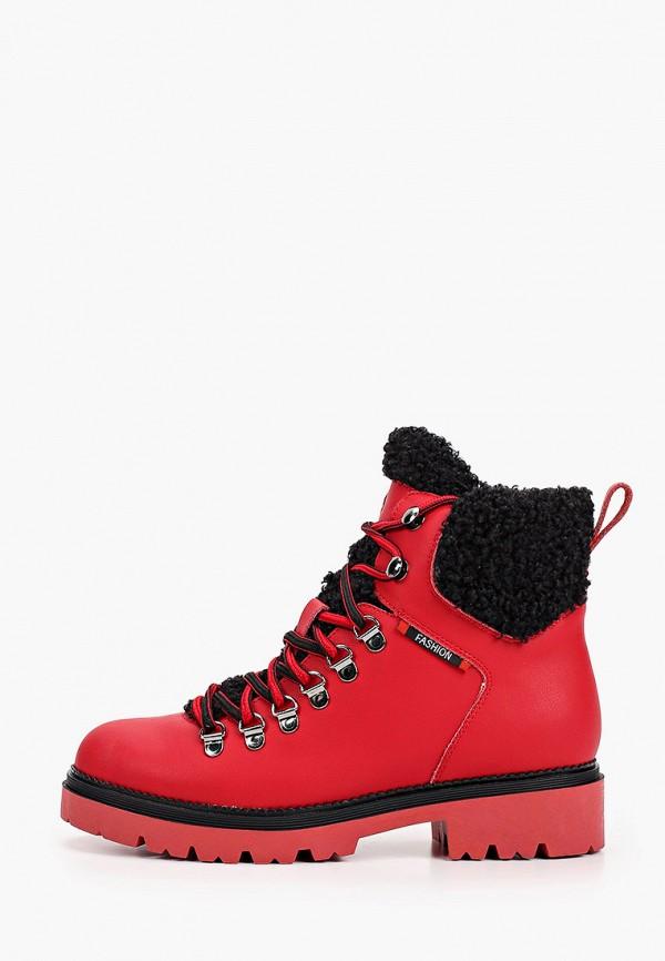 женские ботинки respect, красные
