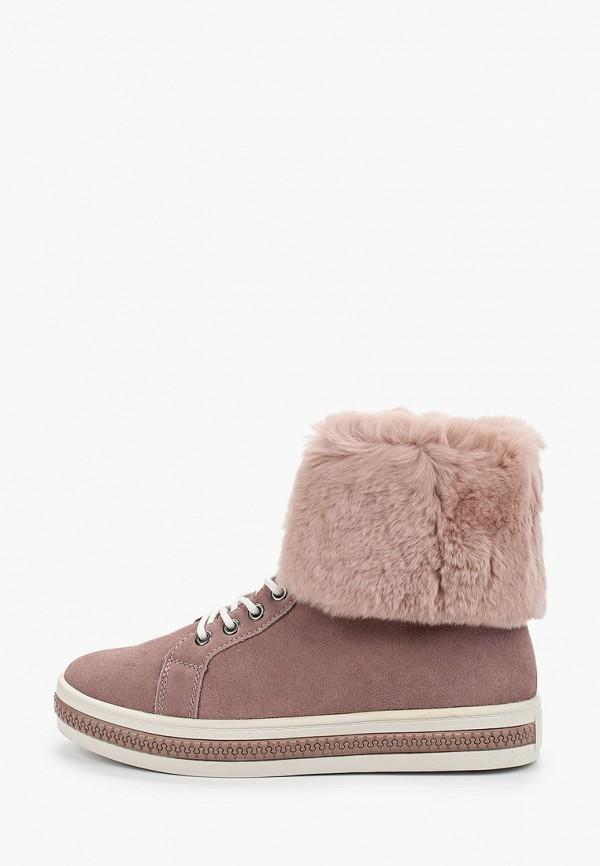 женские ботинки respect, розовые