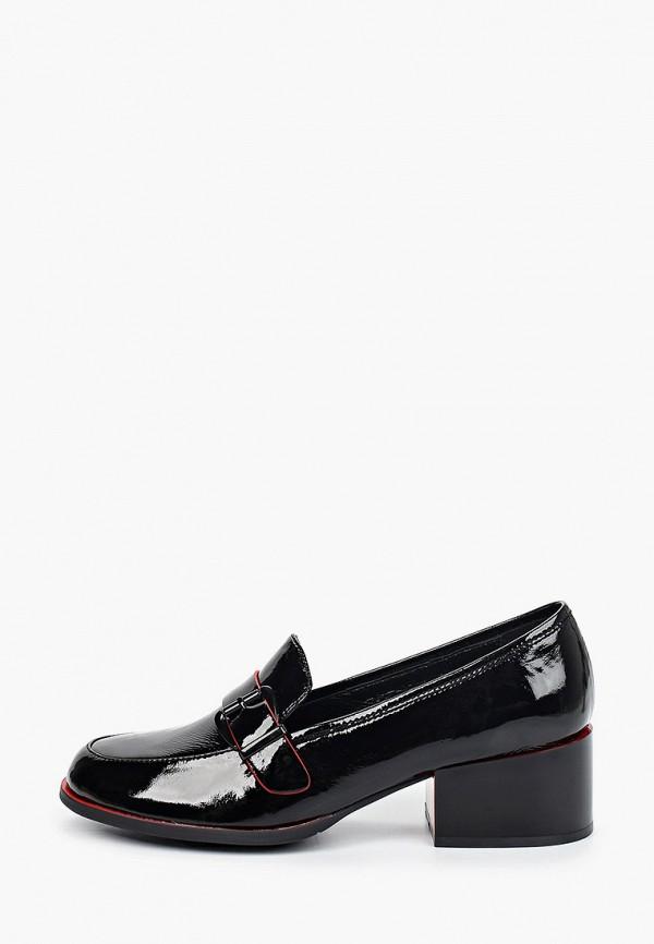 женские туфли с закрытым носом respect, черные