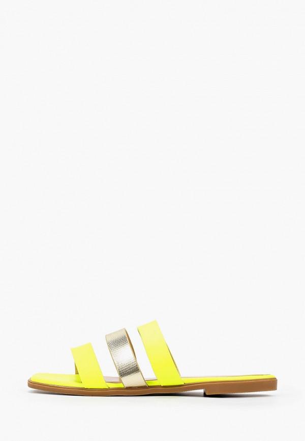 женское сабо respect, желтое