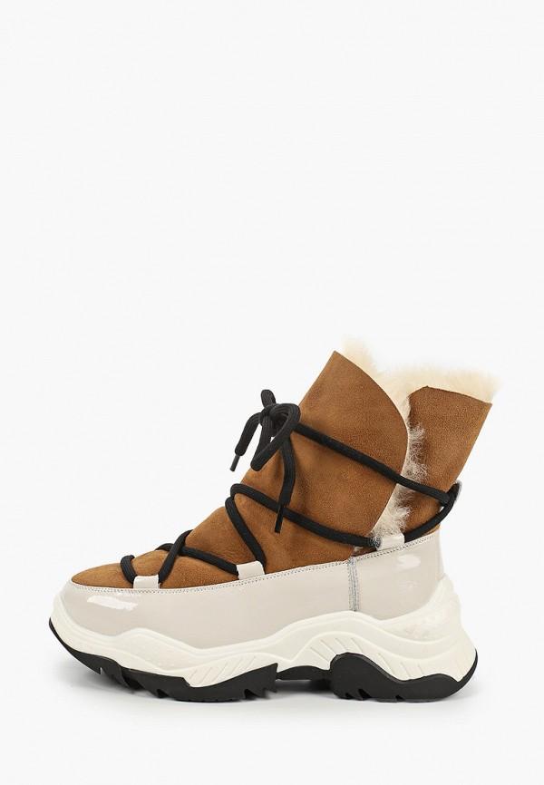 женские ботинки respect, коричневые