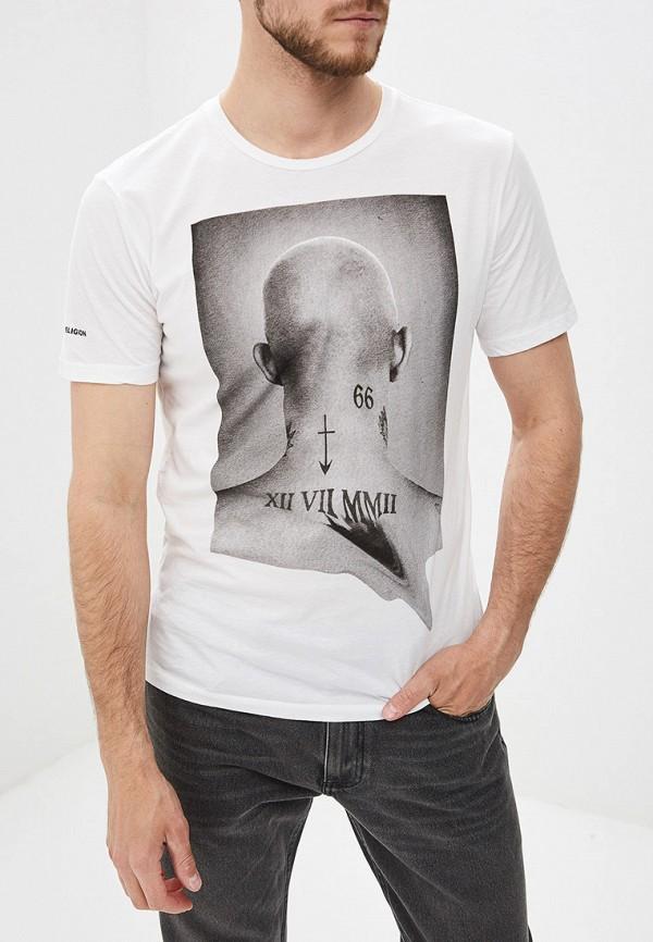мужская футболка с коротким рукавом religion, белая