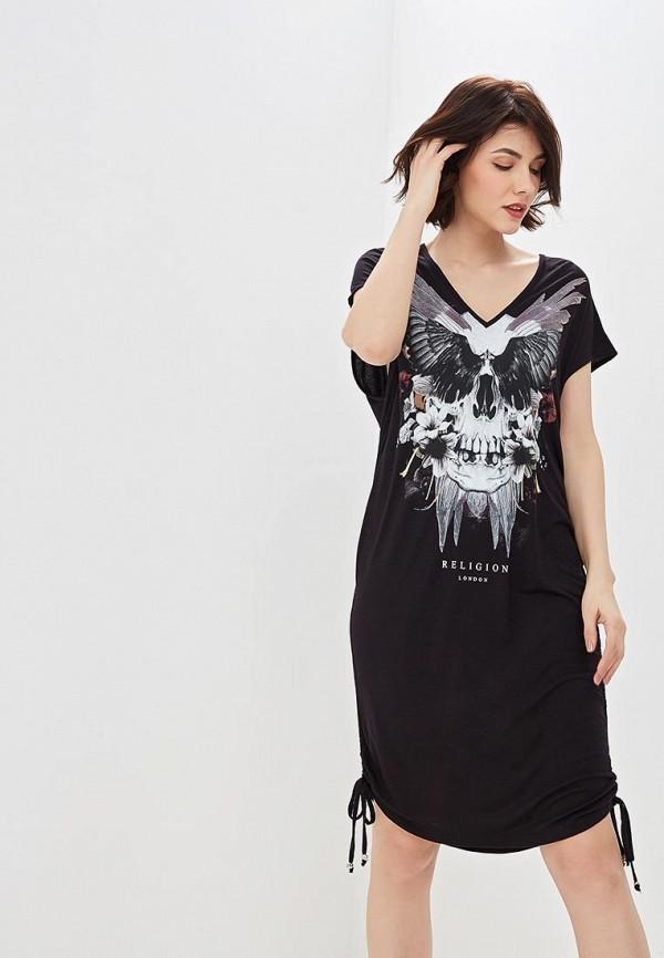 женское повседневные платье religion, черное