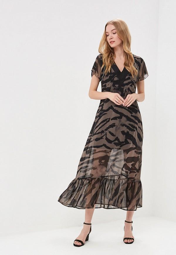 женское повседневные платье religion, коричневое