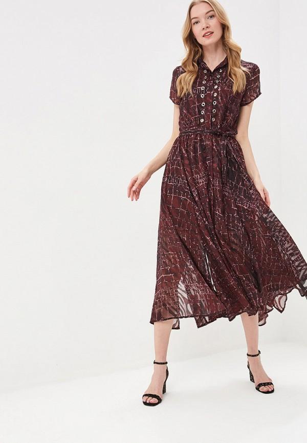 женское повседневные платье religion, бордовое