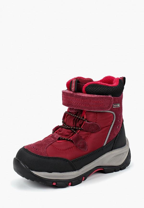 ботинки reima для девочки, бордовые