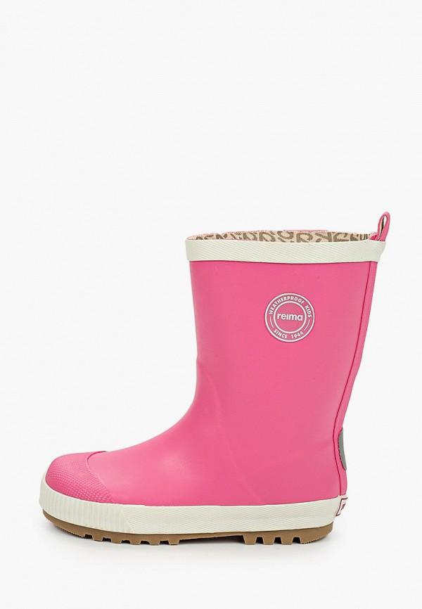 резиновые сапоги reima для девочки, розовые