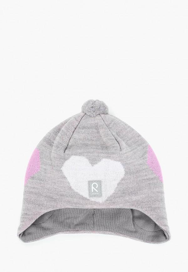 шапка reima для девочки, серая
