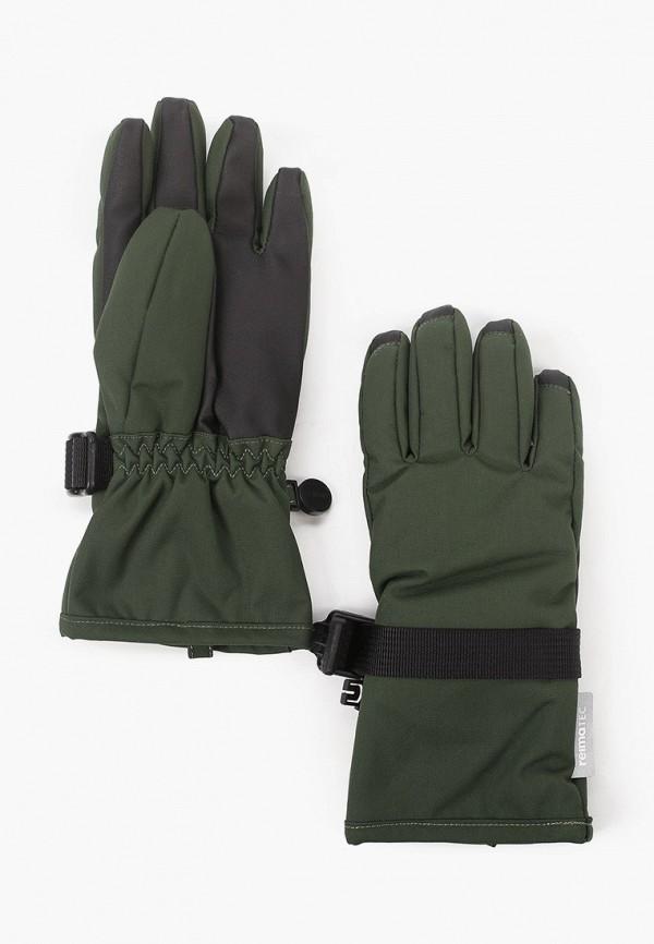 перчатки reima для мальчика, зеленые