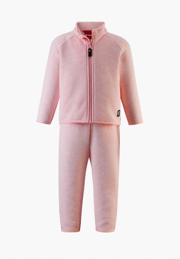 спортивный костюм reima для девочки, розовый
