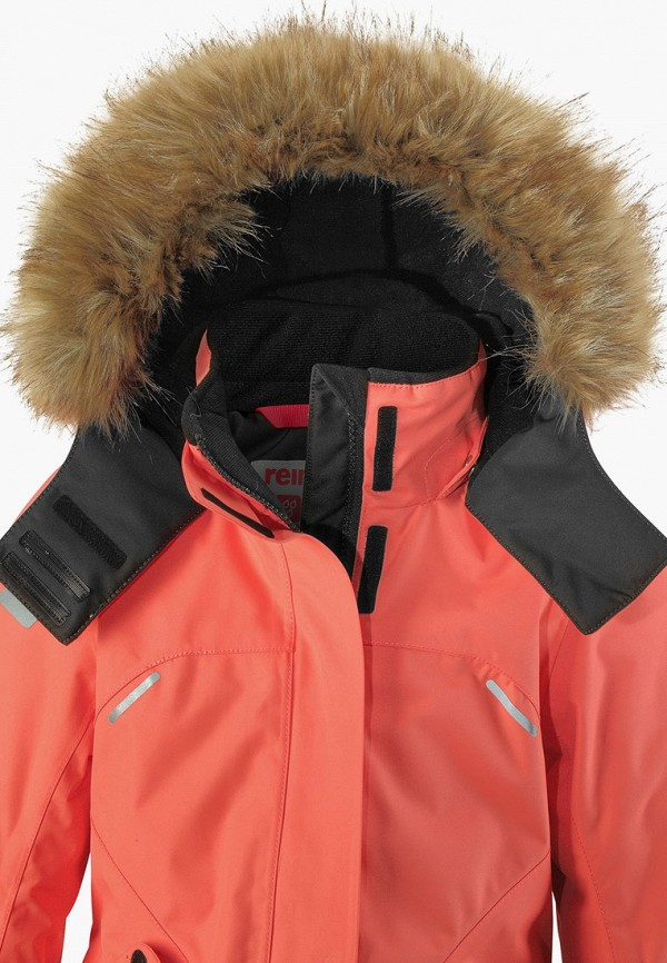 Фото 4 - Куртку утепленная Reima кораллового цвета