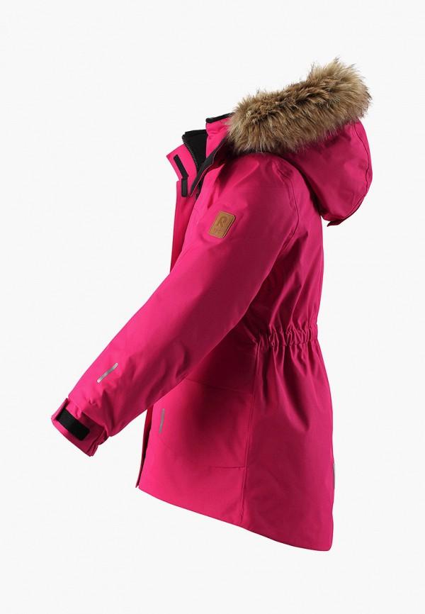 Фото 3 - Куртку утепленная Reima розового цвета