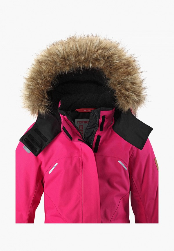 Фото 4 - Куртку утепленная Reima розового цвета