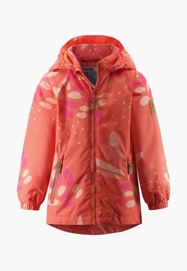 куртка reima для девочки, оранжевая