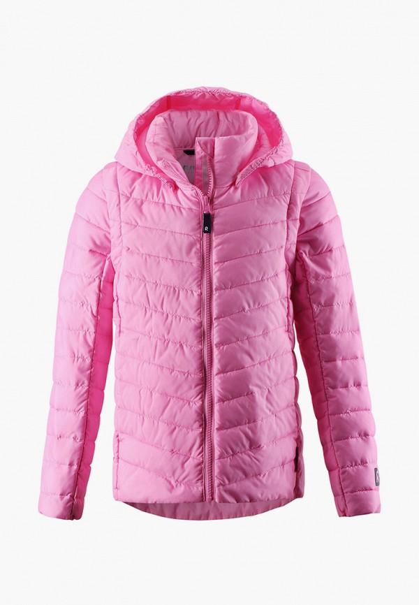 пуховик reima для девочки, розовый