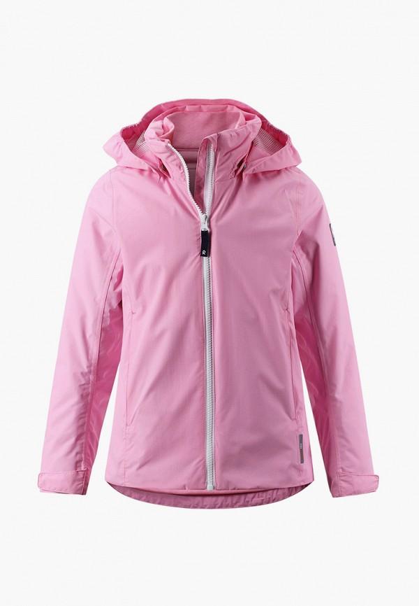 утепленные куртка reima для девочки, розовая