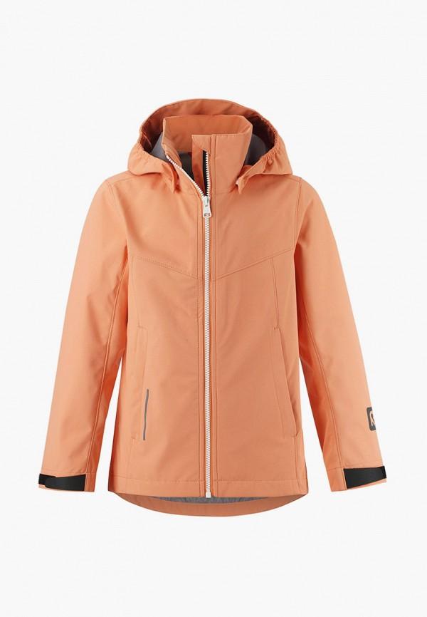 легкие куртка reima для девочки, оранжевая