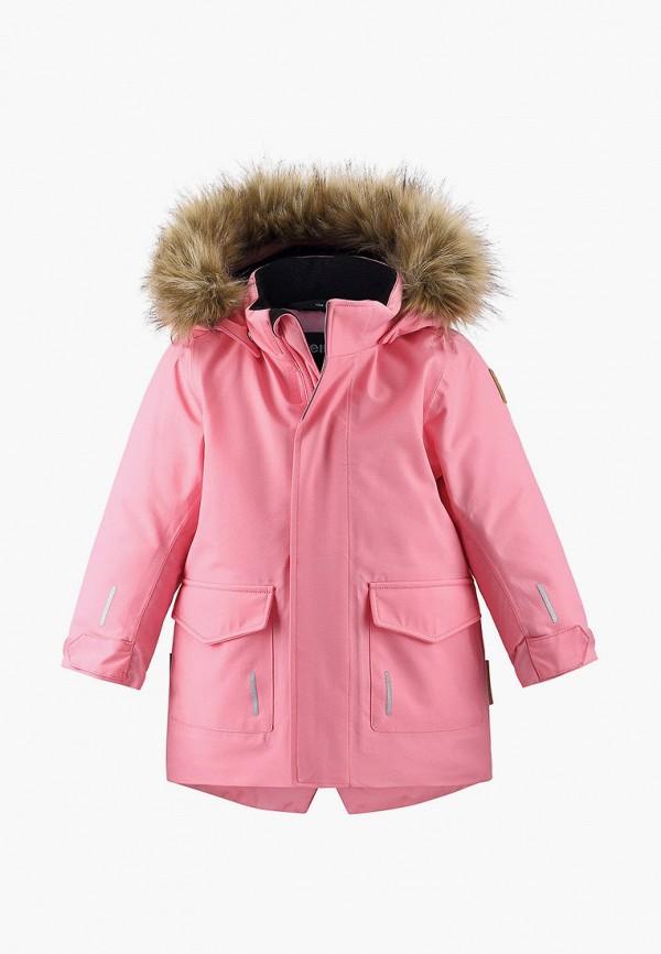 парка reima для девочки, розовая