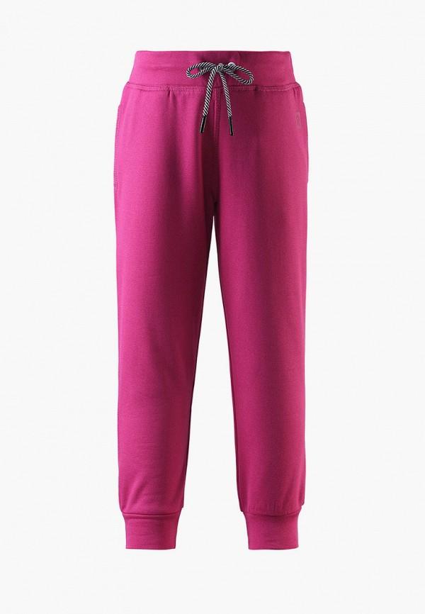 спортивные брюки reima для девочки, розовые