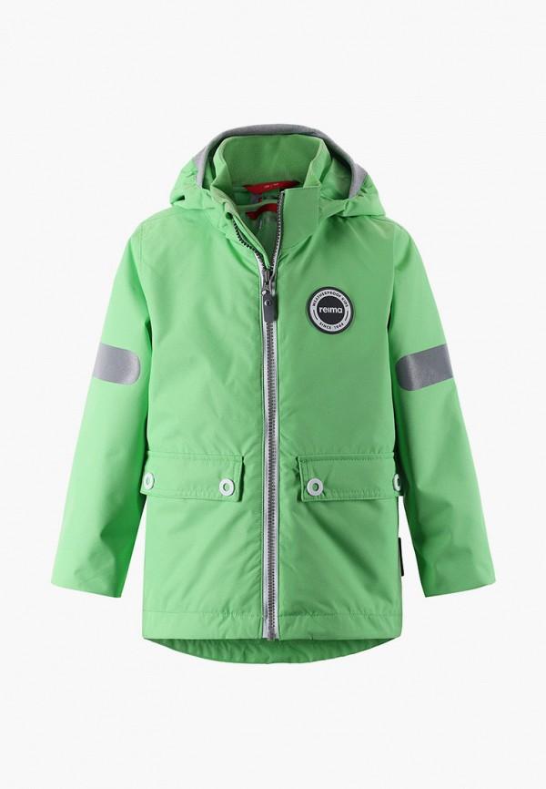 утепленные куртка reima малыши, зеленая