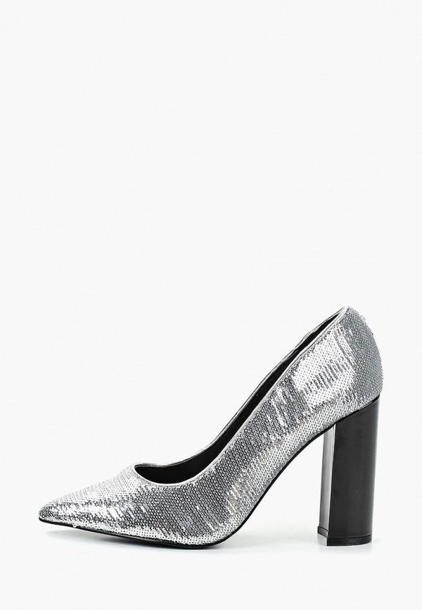 женские туфли river island, серебряные