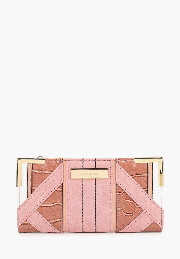 женский кошелёк river island, розовый