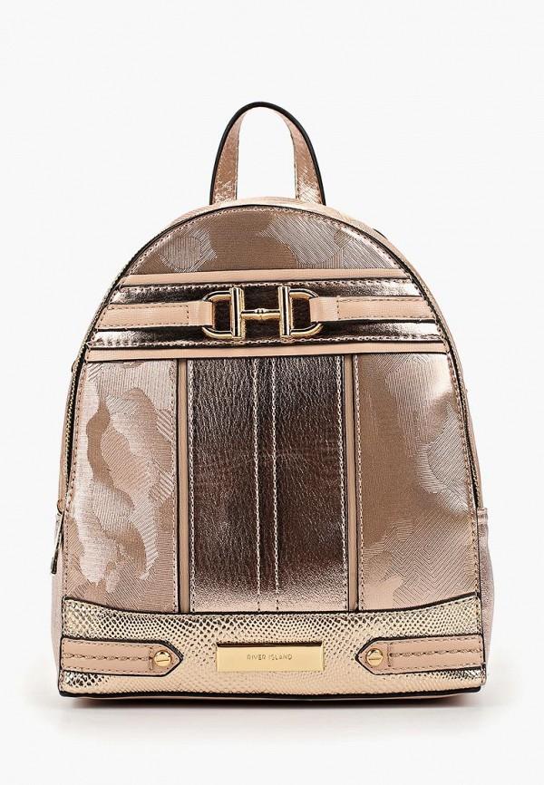 женский рюкзак river island, золотой