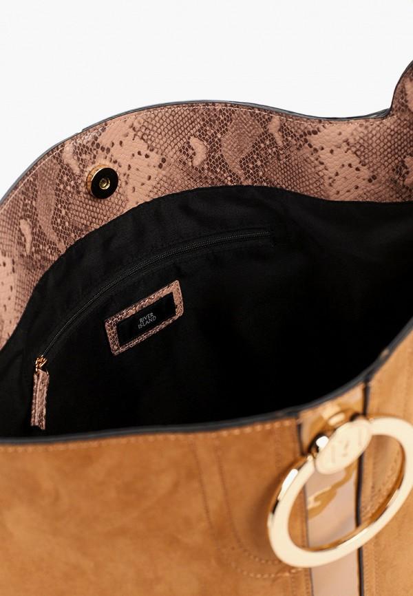 Фото 3 - женскую сумку River Island коричневого цвета