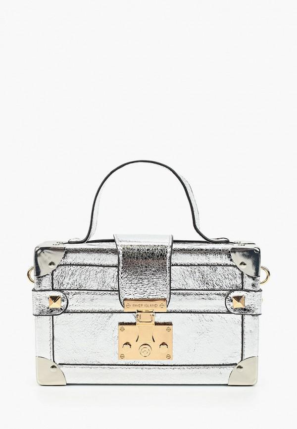 женская сумка river island, серебряная