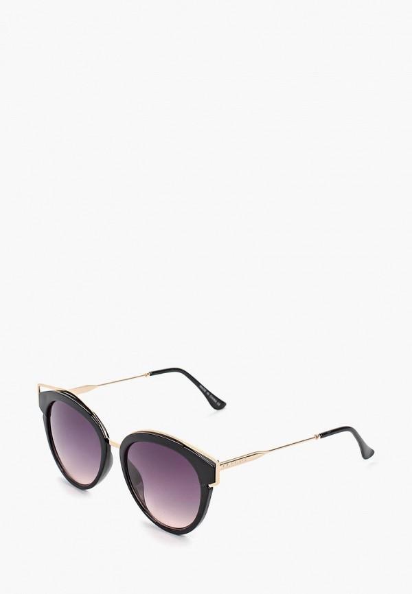 женские солнцезащитные очки кошачьи глаза river island, черные