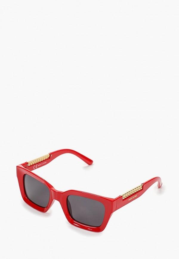 женские солнцезащитные очки river island, красные