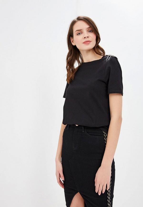 женская футболка river island, черная