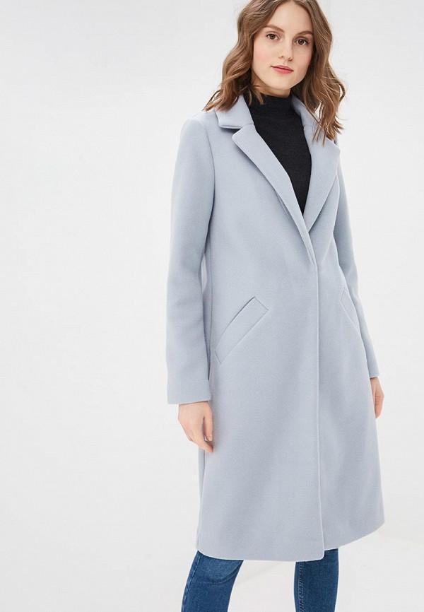женское пальто river island, голубое