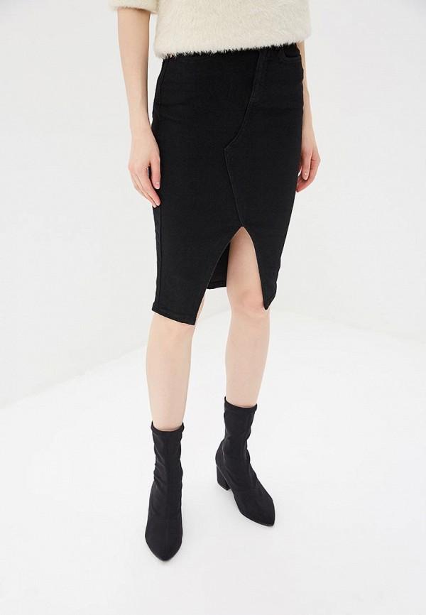 женская джинсовые юбка river island, черная