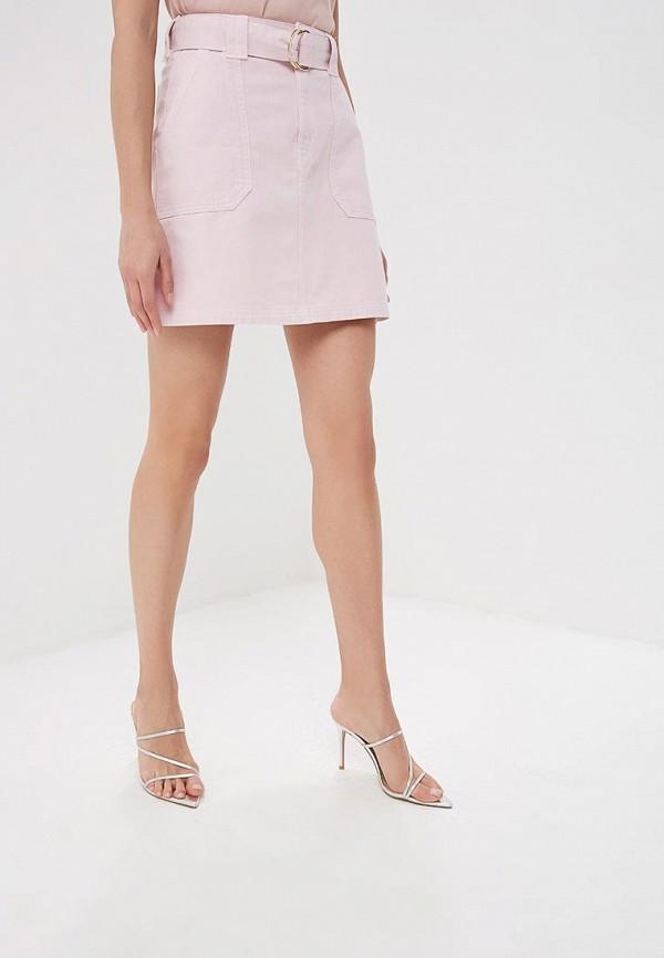 женская юбка river island, розовая