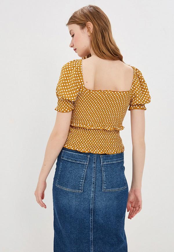 Фото 3 - женскую блузку River Island желтого цвета