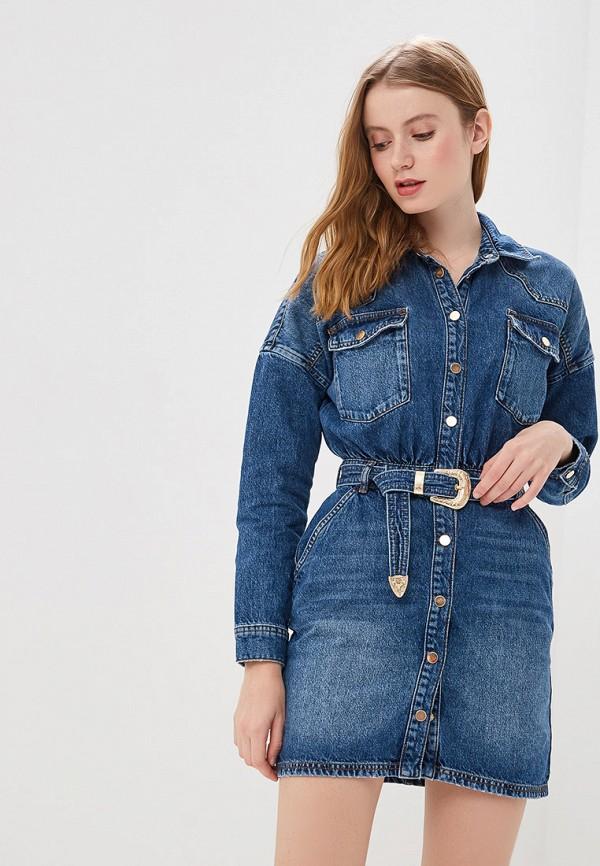 женское джинсовые платье river island, синее