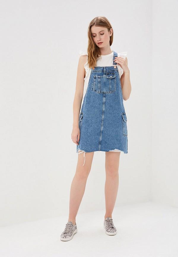 Фото 2 - Платье джинсовое River Island синего цвета