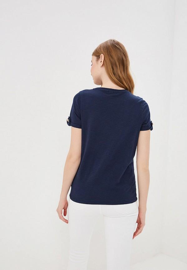 Фото 3 - женскую футболку River Island синего цвета