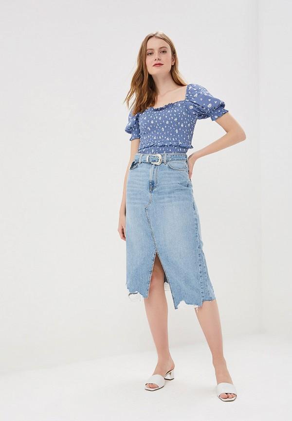 Фото 2 - Юбку джинсовая River Island голубого цвета