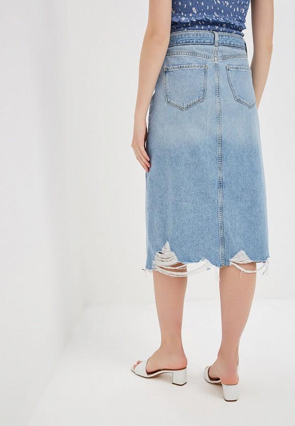 Фото 3 - Юбку джинсовая River Island голубого цвета