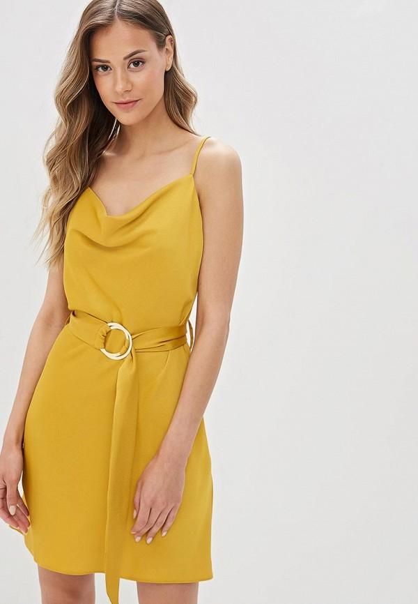 женское повседневные платье river island, желтое