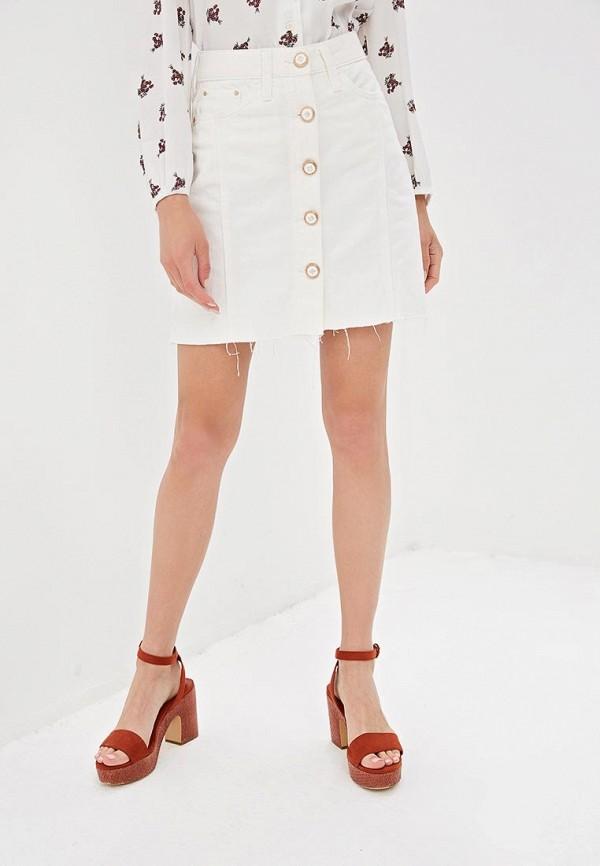 женская джинсовые юбка river island, белая